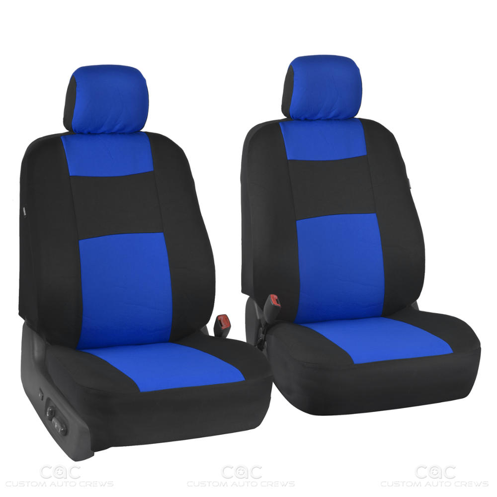car seat covers black blue polyester cloth front rear bench 9 piece set ebay. Black Bedroom Furniture Sets. Home Design Ideas
