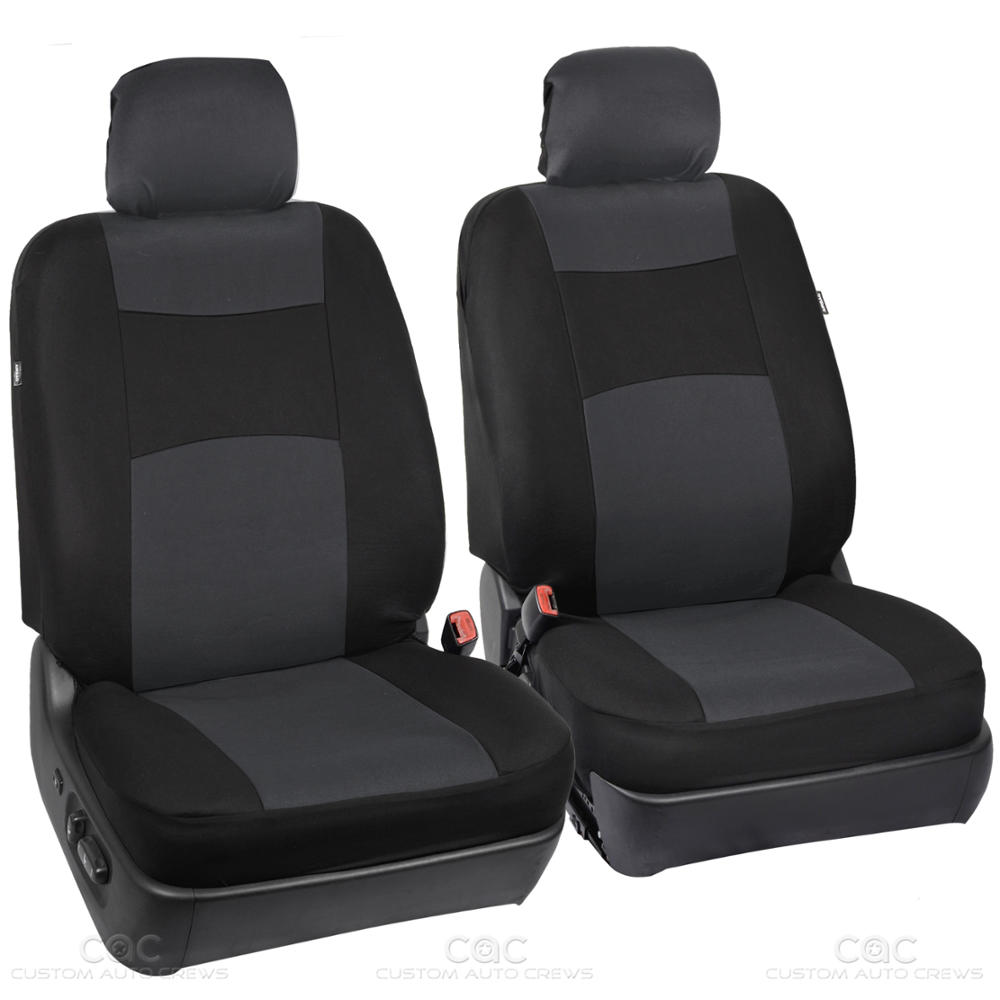 Charcoal Black Seat Cover For Car Auto Suv 9pc Polyester