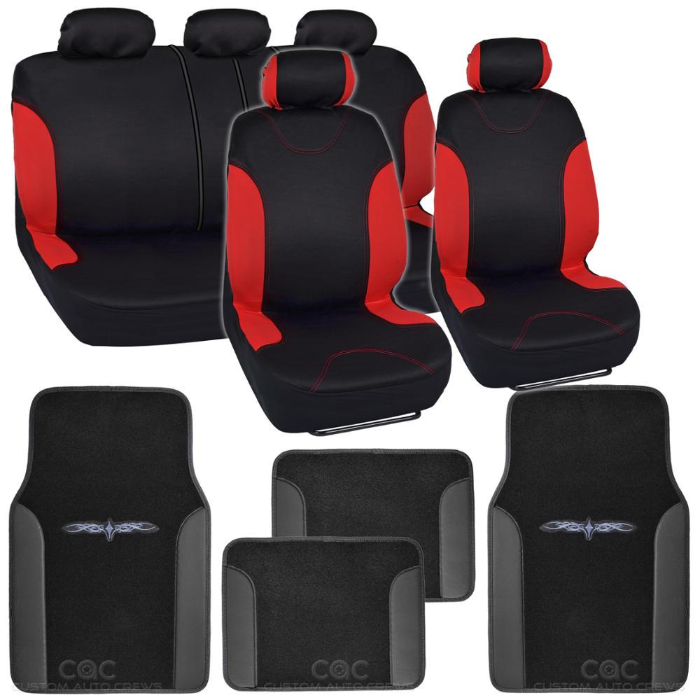 Wondrous Details About Red Accent Car Seat Covers W Split Bench Tribal Comfy Carpet Floor Mats 13Pc Machost Co Dining Chair Design Ideas Machostcouk
