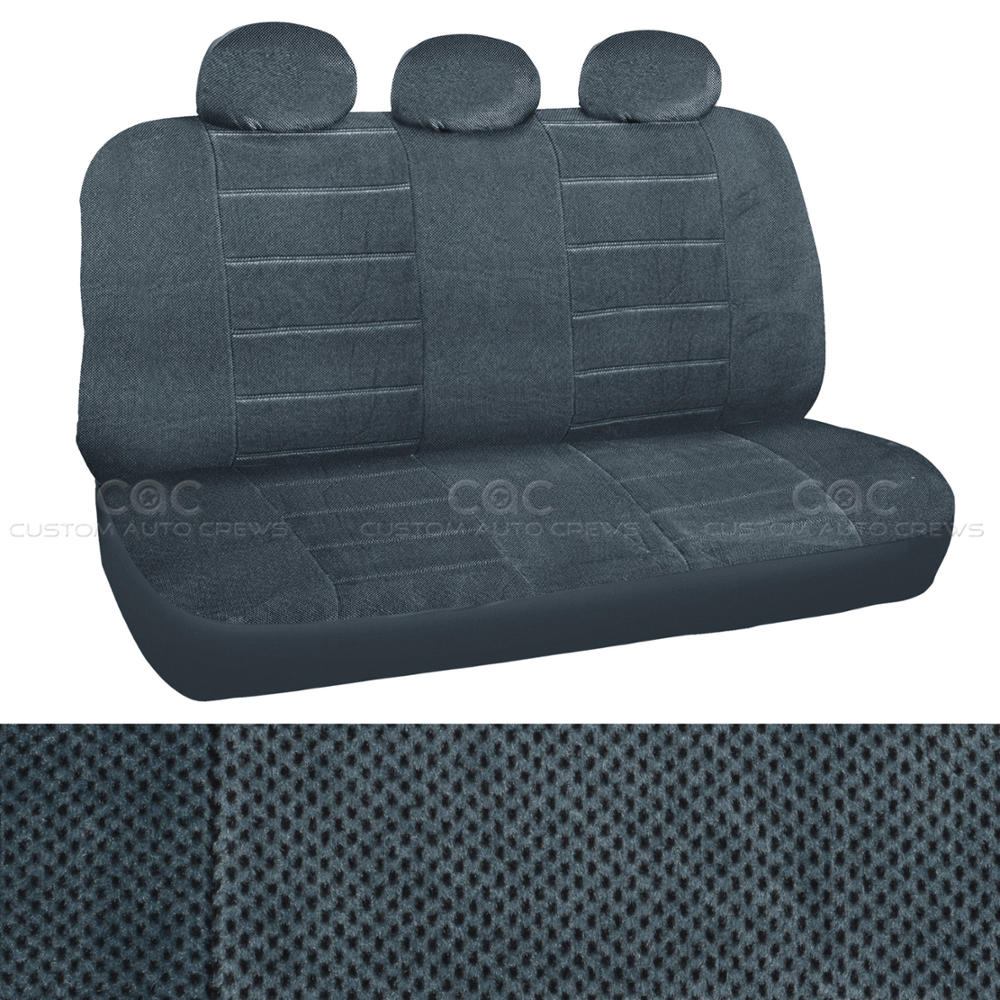 Regal Cloth Seat Covers 7pc Highback Bucket Charcoal Tweed