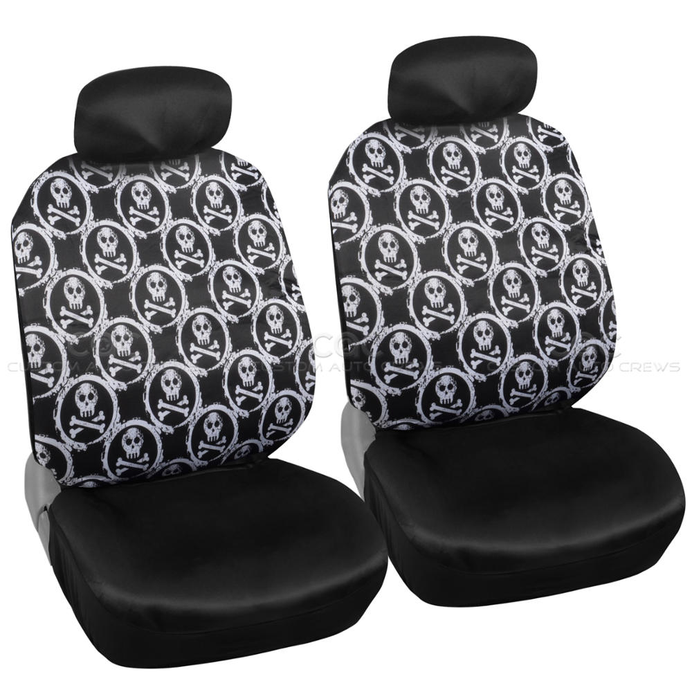 Complete Monogram Skull Print Front And Rear Set Car