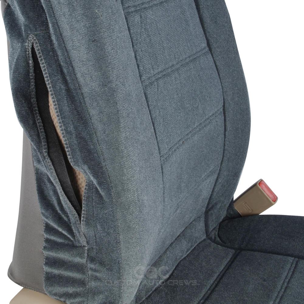 Encore Velour Cloth Seat Covers 4pc Bucket Front Pair Set