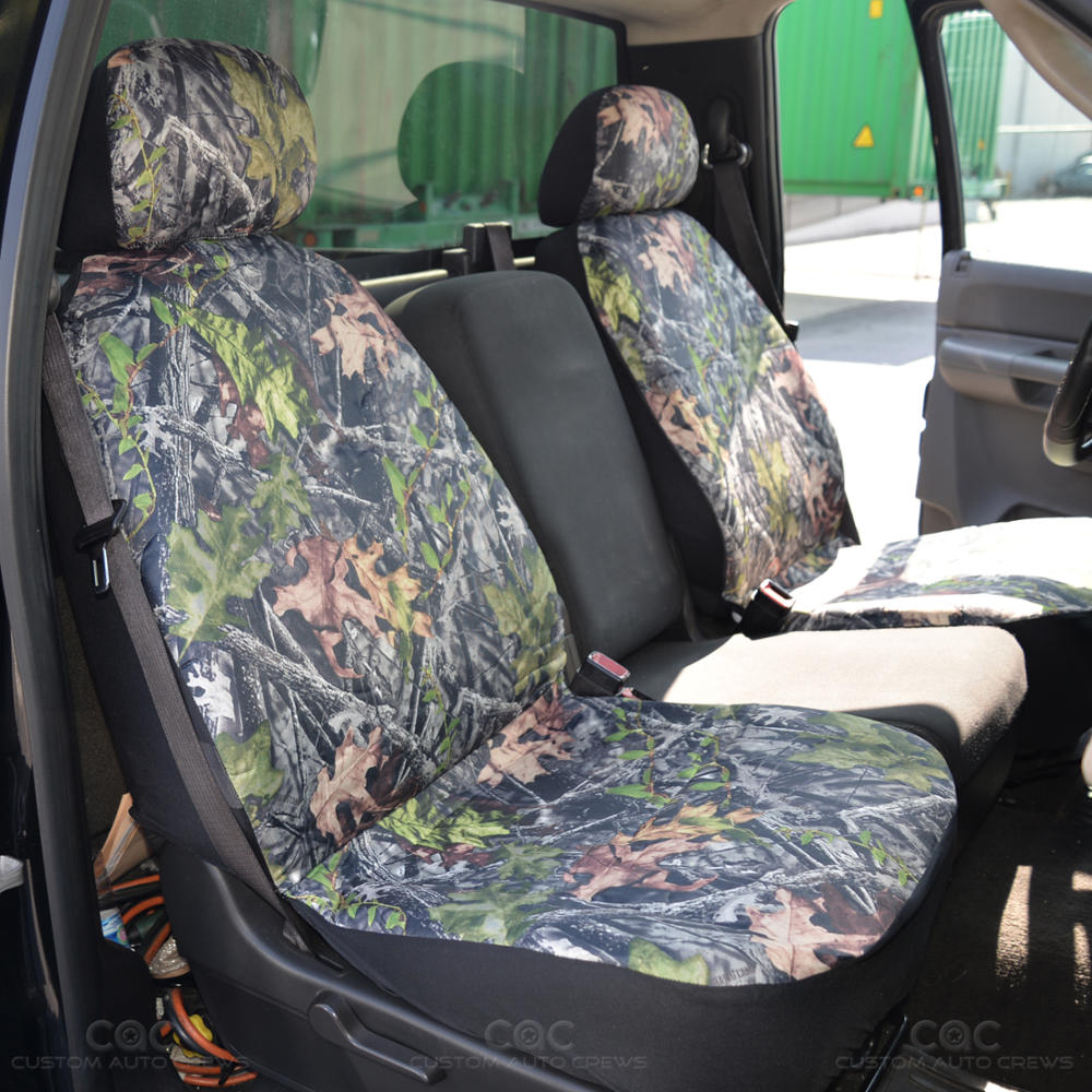 Camo Seat Covers For Car SUV TRUCK- 2 Fronts Low Back