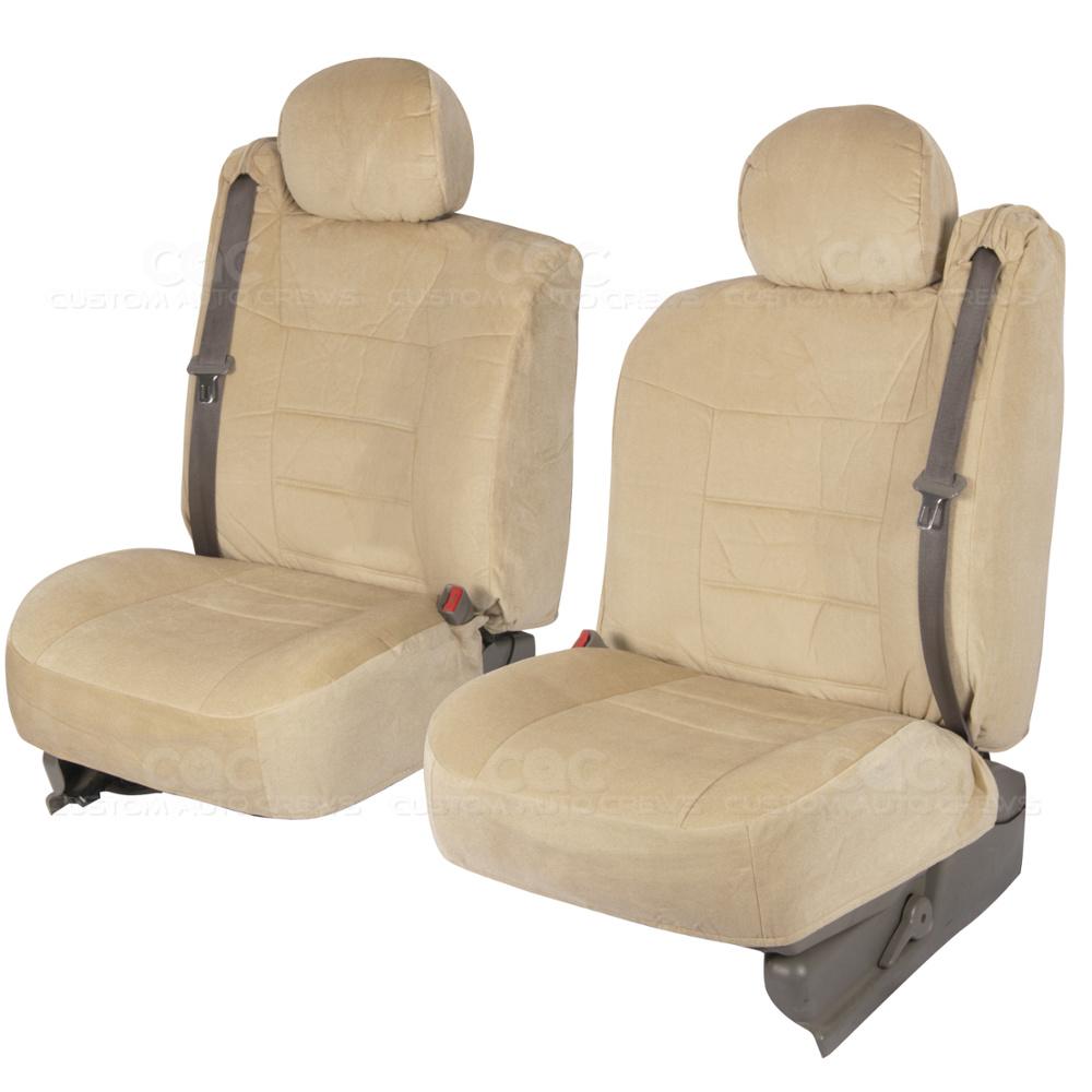 Beige Custom Regal Chevy Tahoe Seat Covers w// Built-in Seat Belt