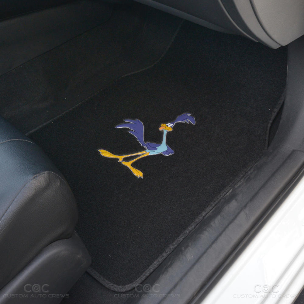 Character Road Runner Car Floor Mats 4 Pc Full Set Looney