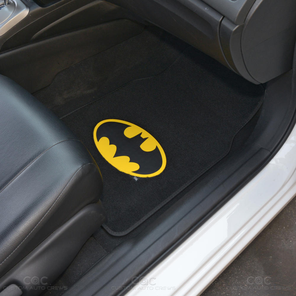 Batman Car Floor Mats 4 Pc Officially Licensed Products