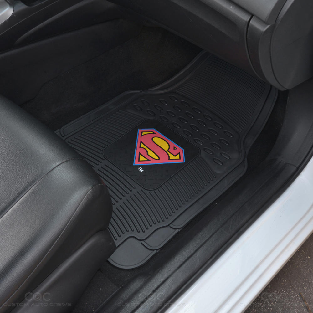 Superman Car Seat Covers W 4 PC Rubber Floor Mat