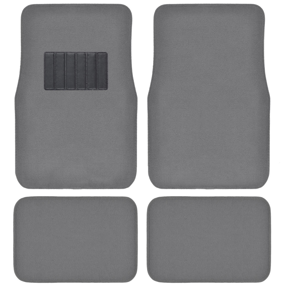 auto floor mats for car classic carpet w heelpad medium gray set front rear ebay. Black Bedroom Furniture Sets. Home Design Ideas