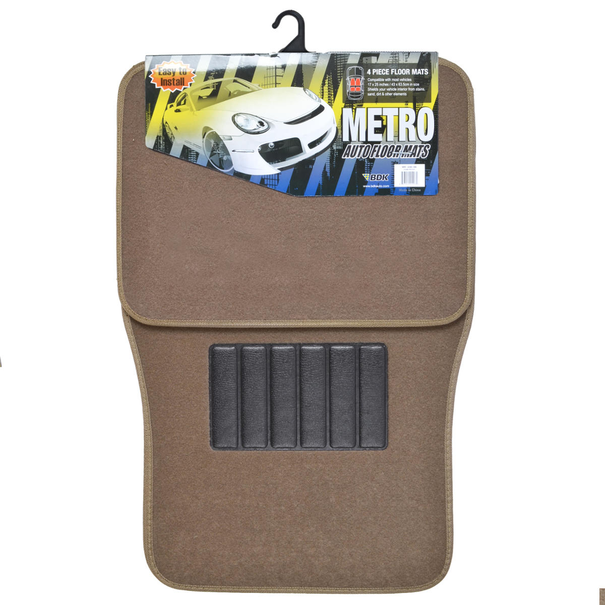 Dark Beige Car Floor Mats Liner Pads Utility Mat Standard