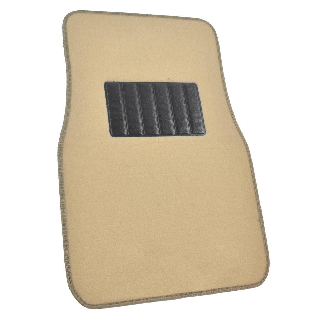 Light Beige Tan Cream Car Floor Mats Liner Pads Utility