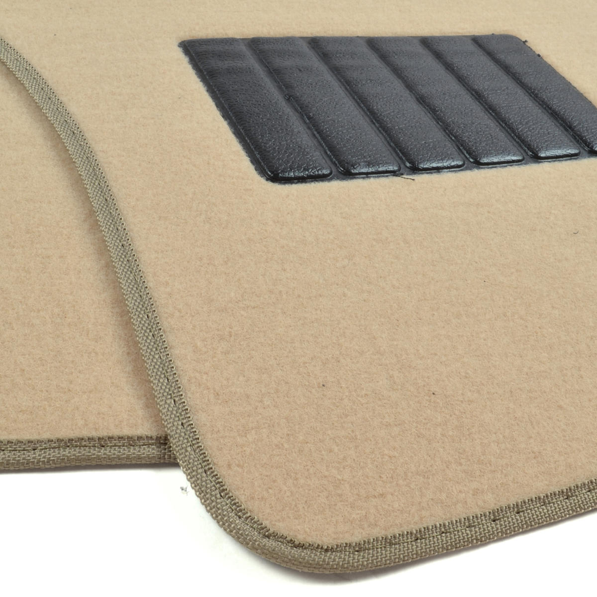 Auto Floor Mats For Car Classic Carpet W Heelpad Tan