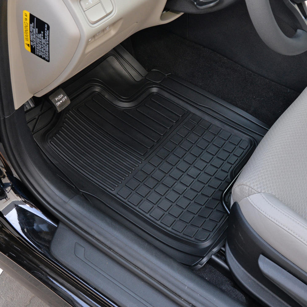 Hd 3d Rubber Car Floor Mats Auto Liners All Weather 3pc