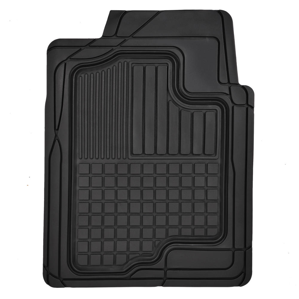 Heavy Duty Trim-Fit Rubber Car Floor Mats Grid Trapping