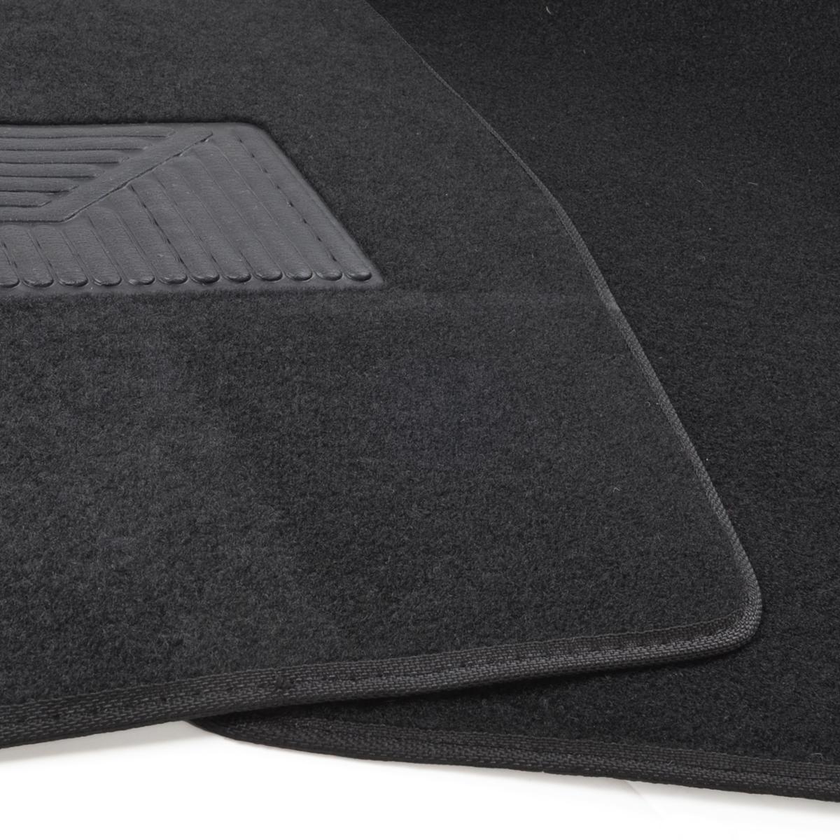 3pc Set Black Heavy Duty Carpet Suv Van Pickup Car Floor