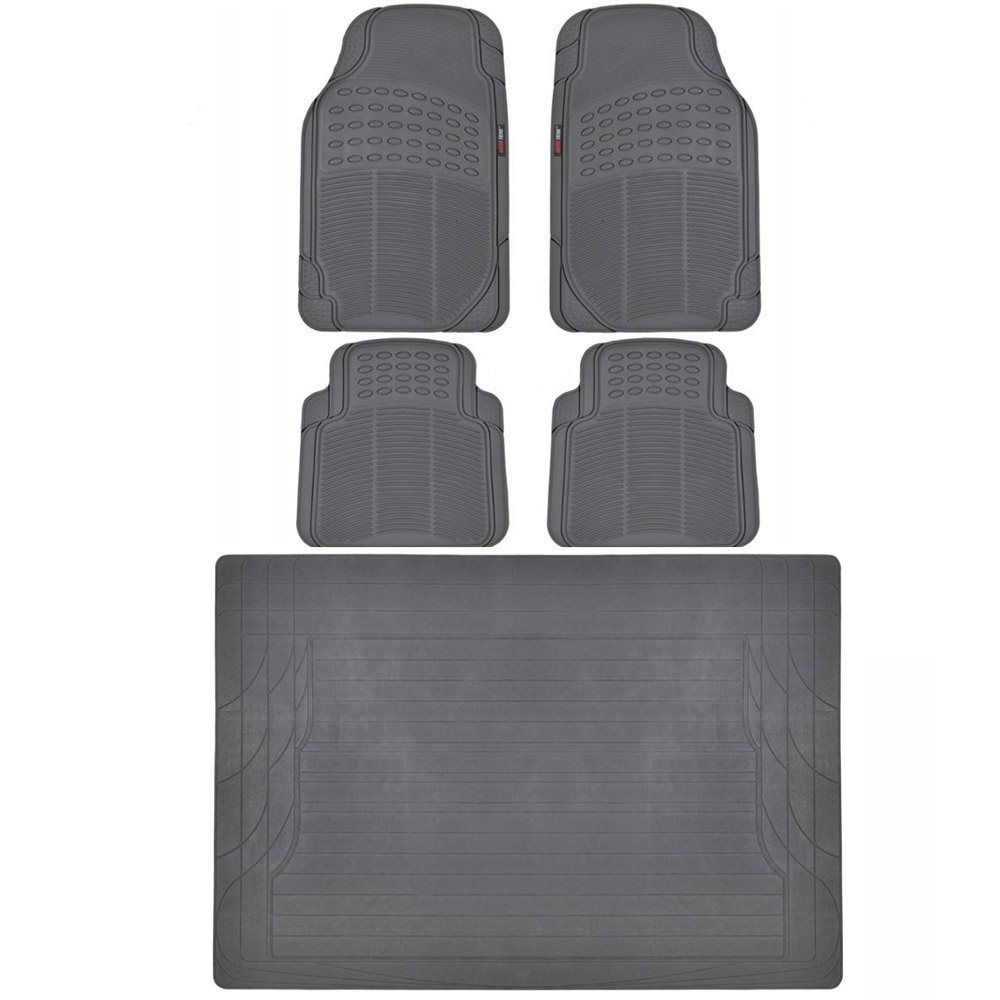 Motor Trend Eco Tech Car Floor Mats W Cargo Liner Gray