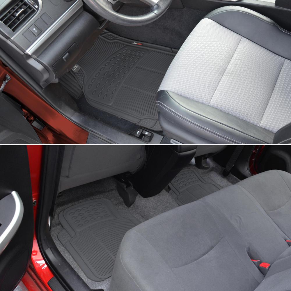 Odorless Eco-Tech Rubber Floor Mats Car SUV Truck W/ Cargo