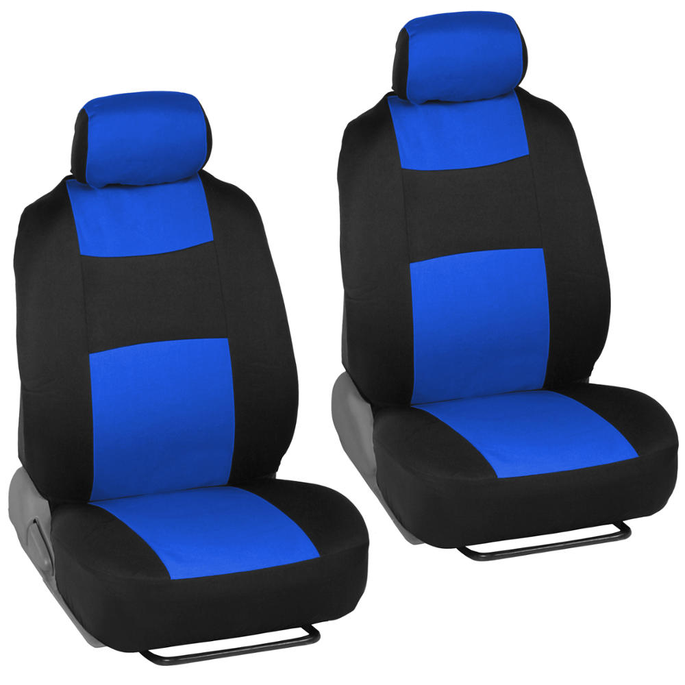 blue black car interior set split bench seat covers 2 tone floor mats 826942099656 ebay. Black Bedroom Furniture Sets. Home Design Ideas