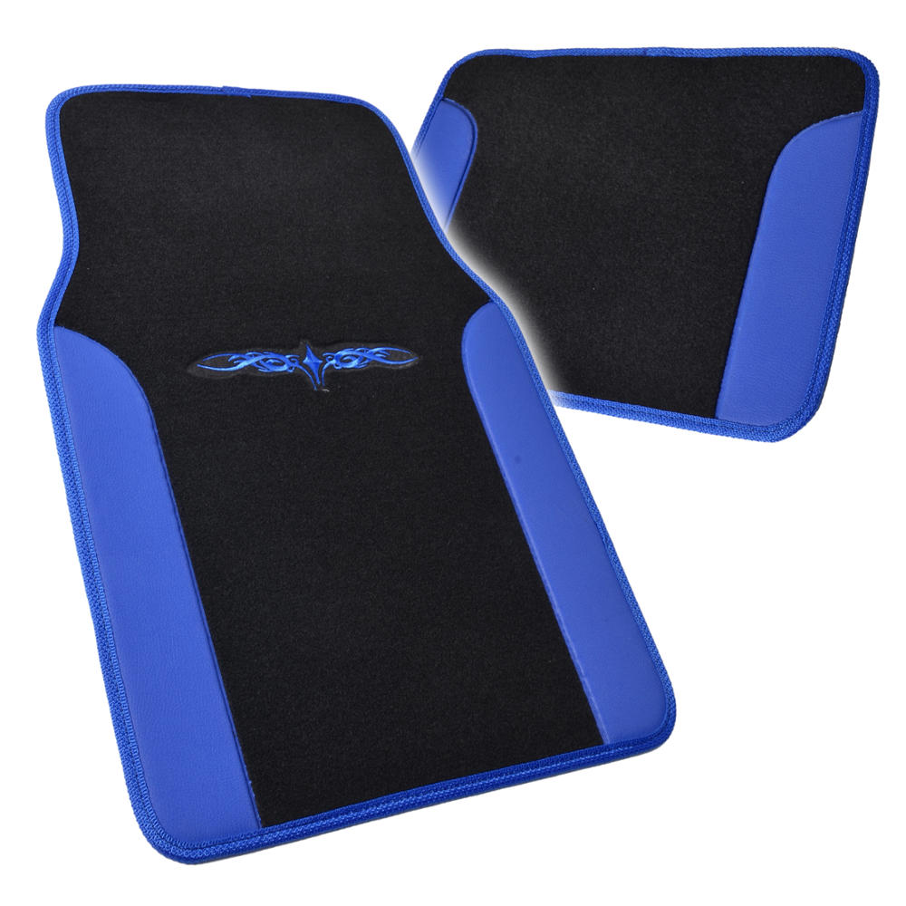 Black Amp Blue Seat Covers Set Complete W Two Tone Vinyl