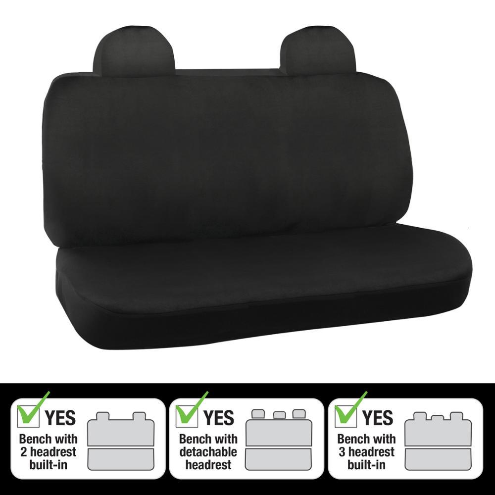 Car Seat Covers Rear Builtin Headrests Black Amp Gray Heavy