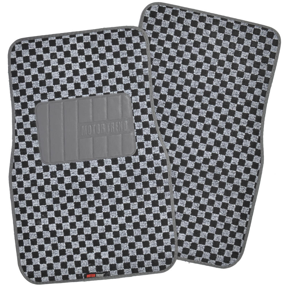 Checked Black Grey Rug: Grey/Black Auto Seat Covers & Gray Checker Rug Floor Mats