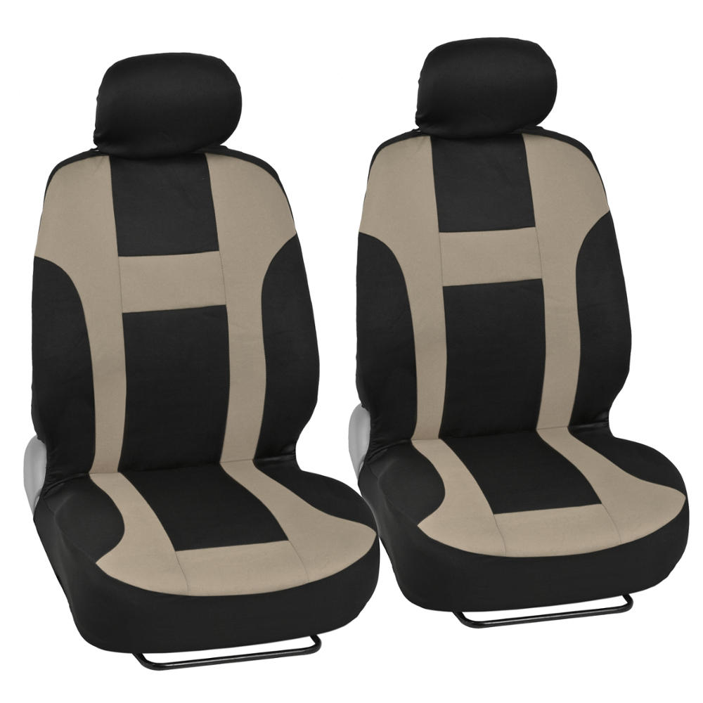 monaco tan beige set car seat covers and 2 tone vinyl mats front and rear ebay. Black Bedroom Furniture Sets. Home Design Ideas
