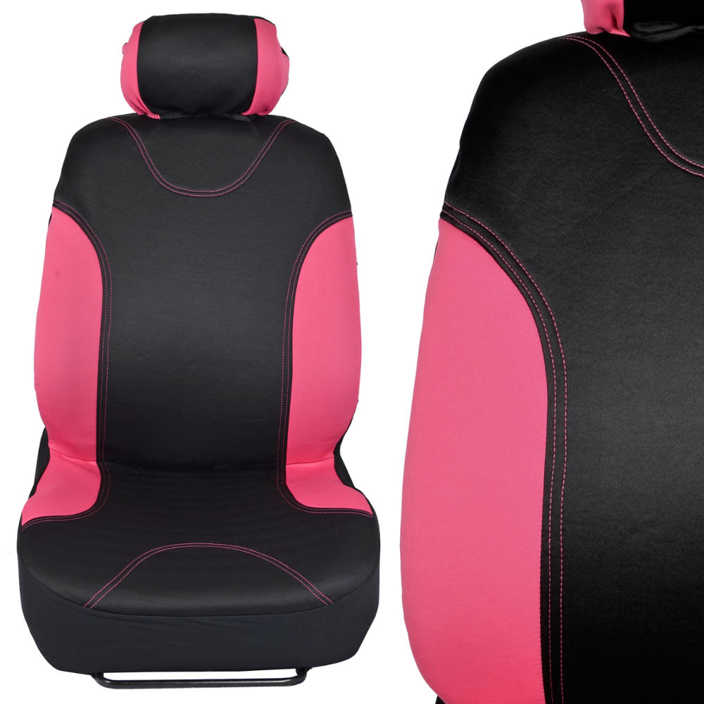 black pink neocloth car seat covers rubber auto floor mats set full protection ebay. Black Bedroom Furniture Sets. Home Design Ideas