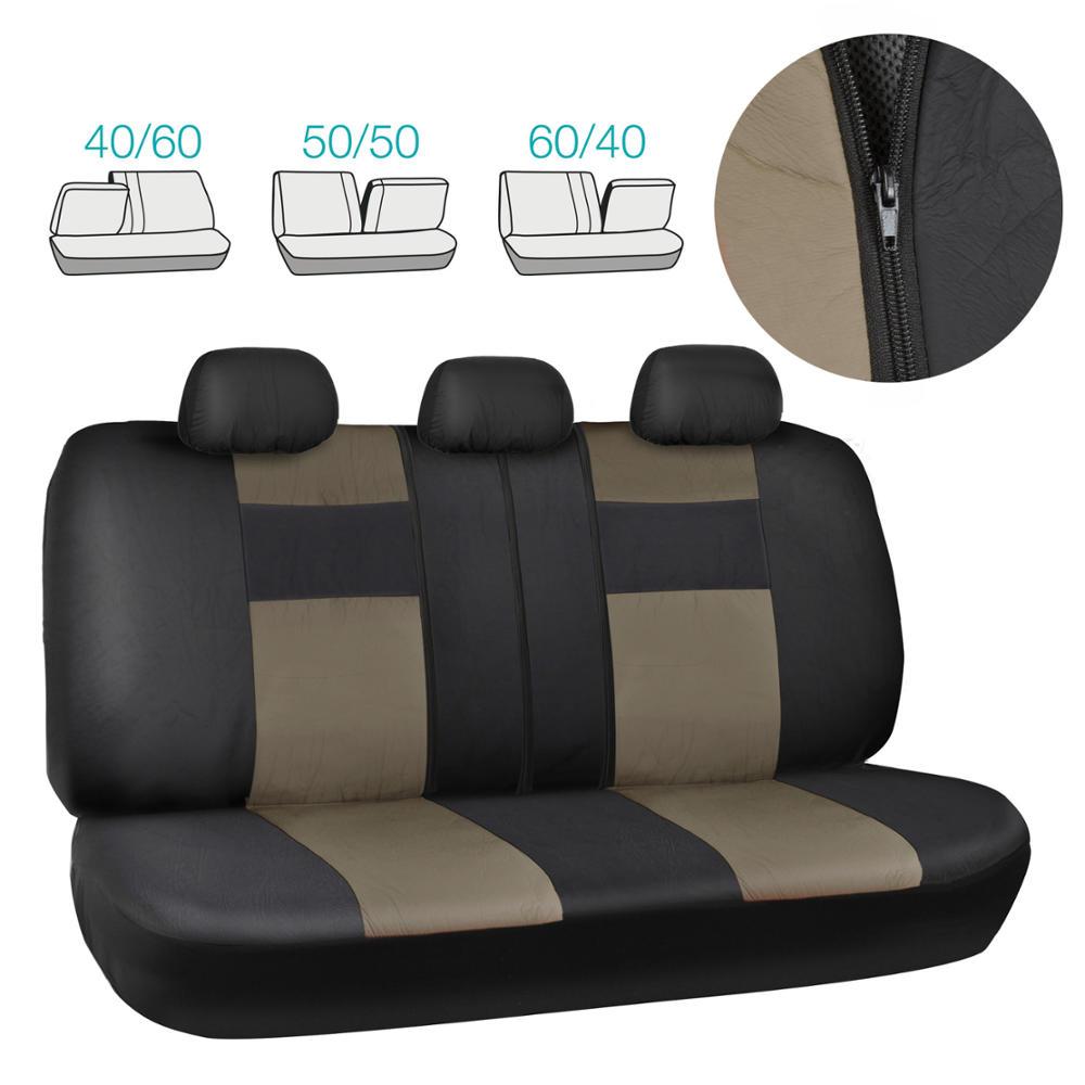 Car Seat Covers In Black & Beige