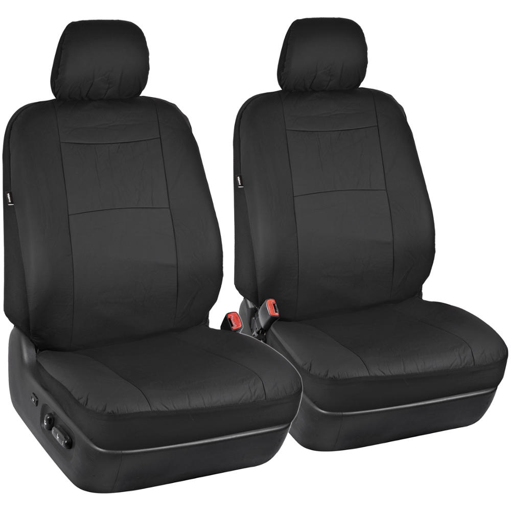 black synthetic leather car seat covers 4pc carpet floor mats auto interior ebay. Black Bedroom Furniture Sets. Home Design Ideas