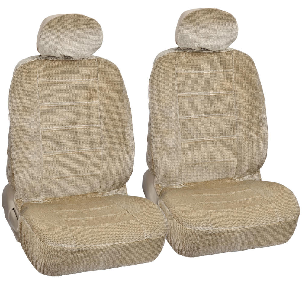 Car seat covers steering wheel cover beige velourette - Car seat covers for tan interior ...