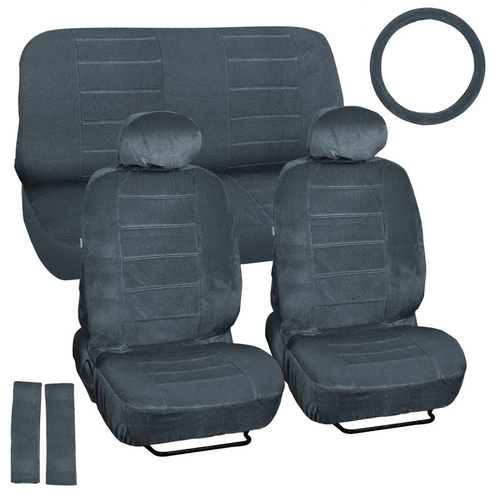 Car Seat Covers Amp Steering Wheel Cover Charcoal Gray