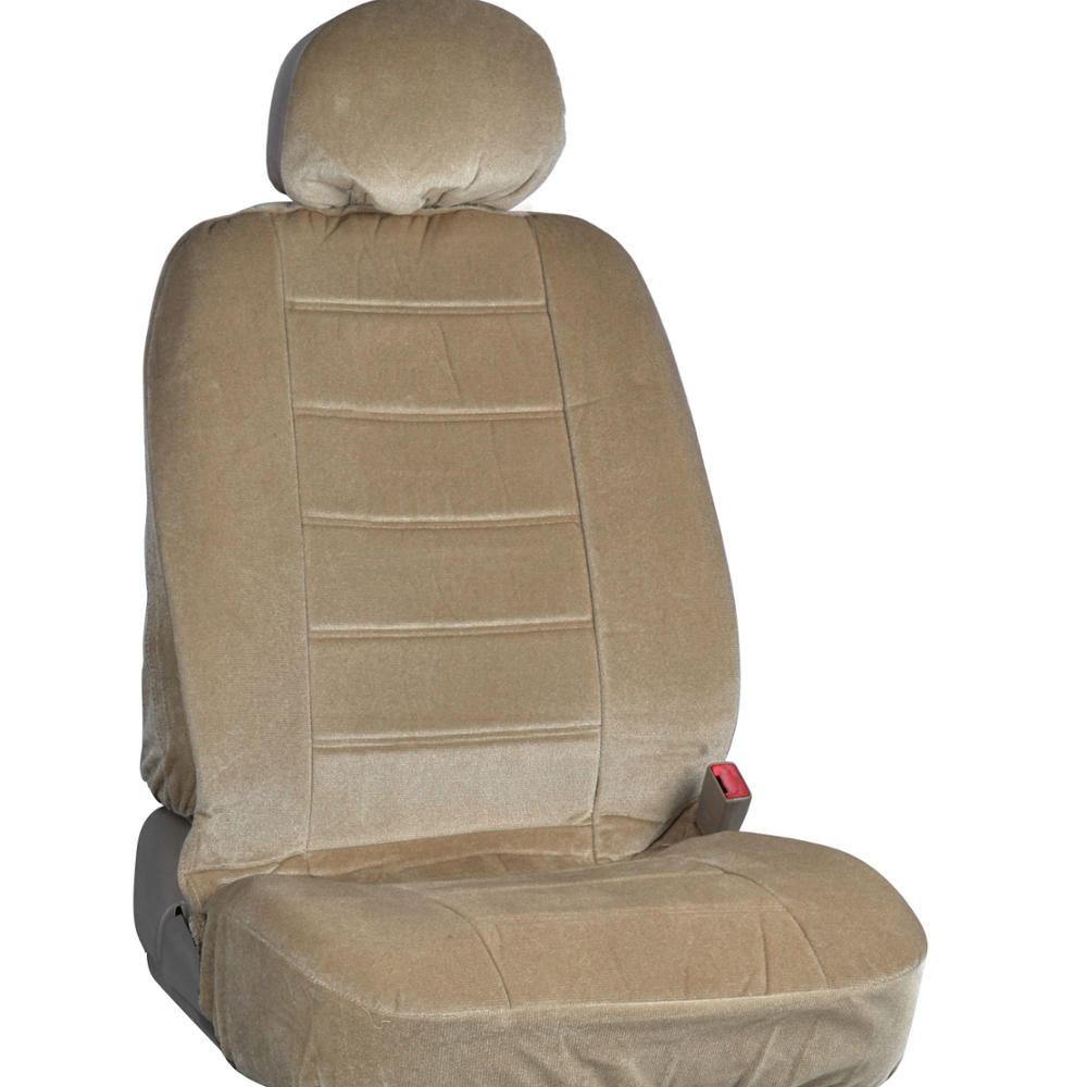 New Vintage Car Seat Covers In Beige W Lined Ribbed
