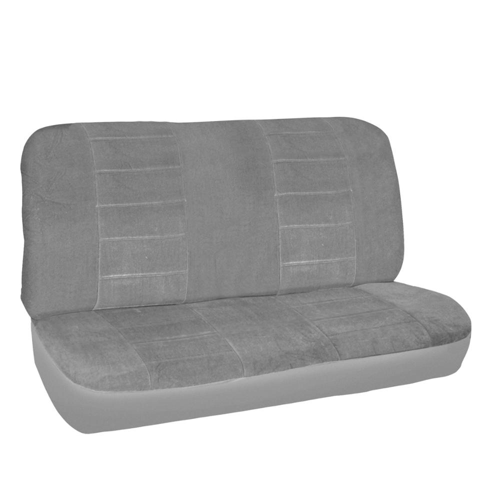 Classic Gray Seat Covers For Car Truck Suv Auto W Ribbed