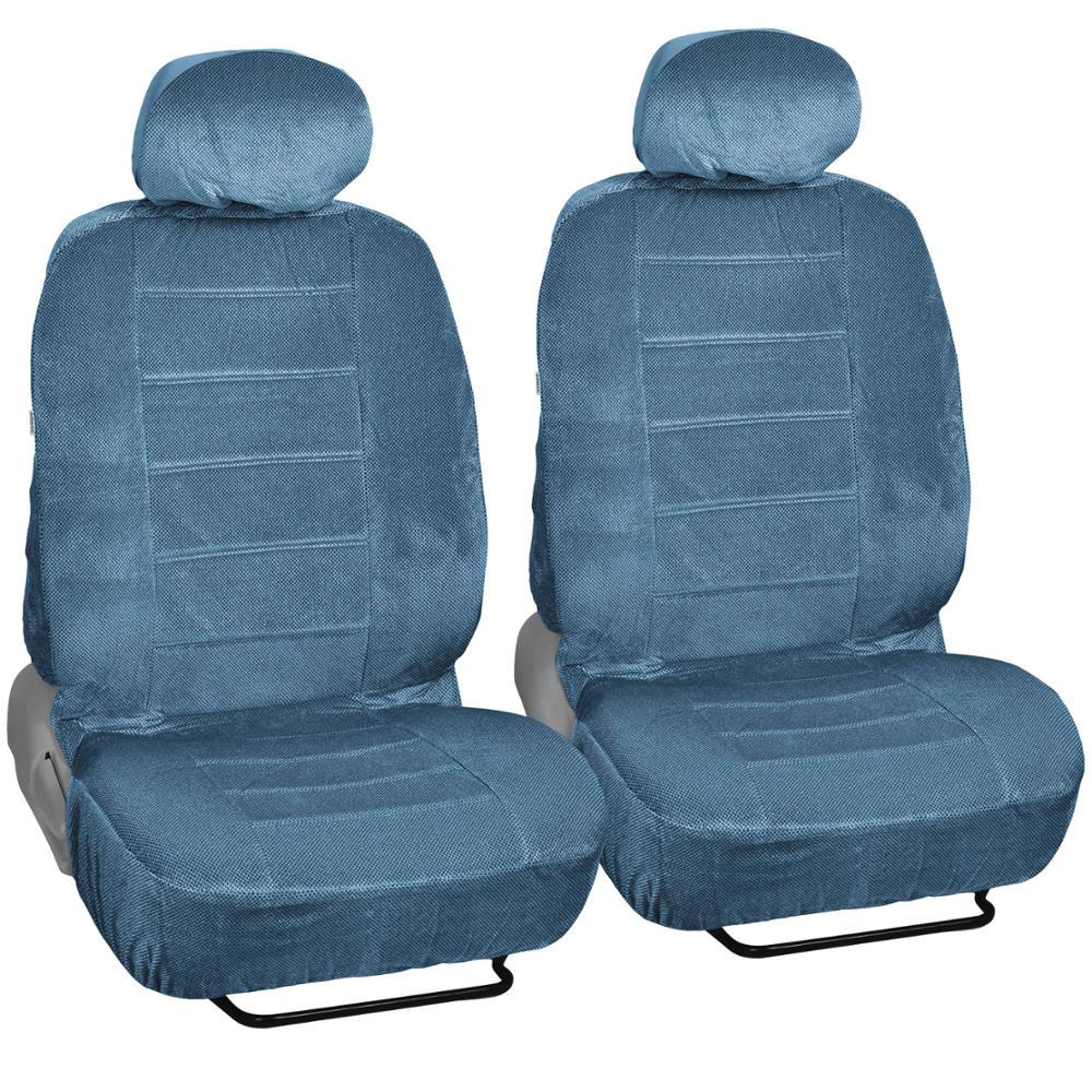 Blue Encore Velour Seat Covers 9 Piece Car Auto Set
