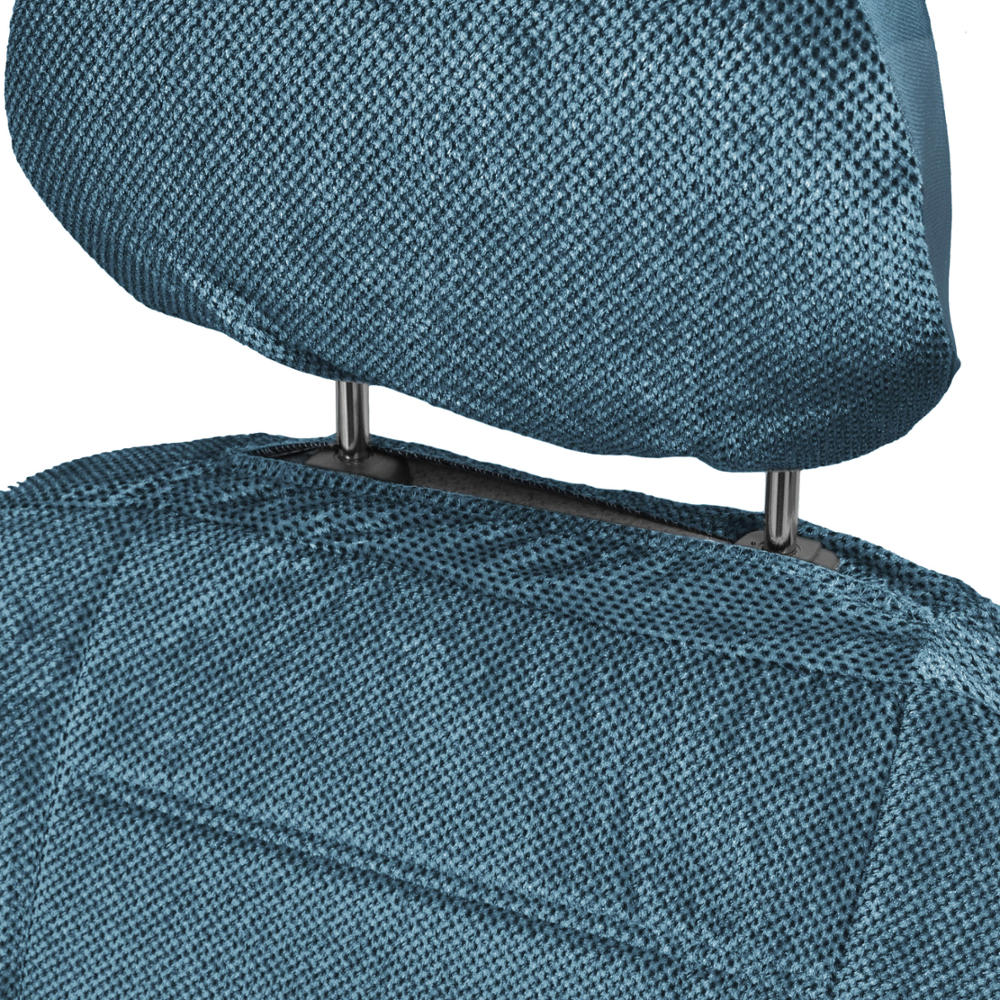 car seat covers low back 9 pc set padded blue encore cloth. Black Bedroom Furniture Sets. Home Design Ideas