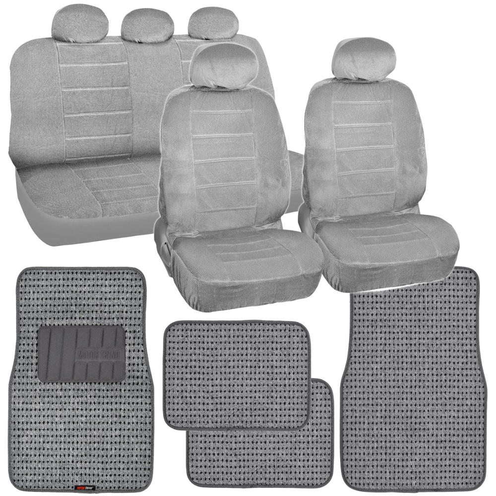 Gray Car Seat Covers New Vintage Amp Thick Auto Floor Mats