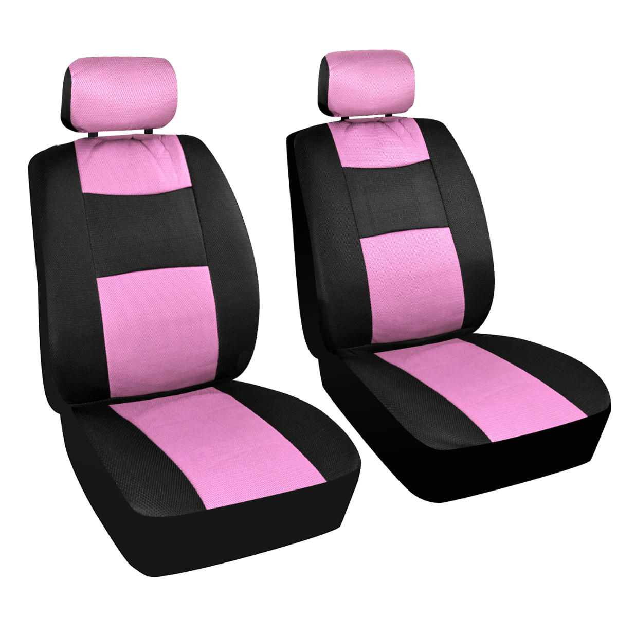 seat covers black and pink mesh cloth polyester 2 color accent set accessories 826942082146 ebay. Black Bedroom Furniture Sets. Home Design Ideas