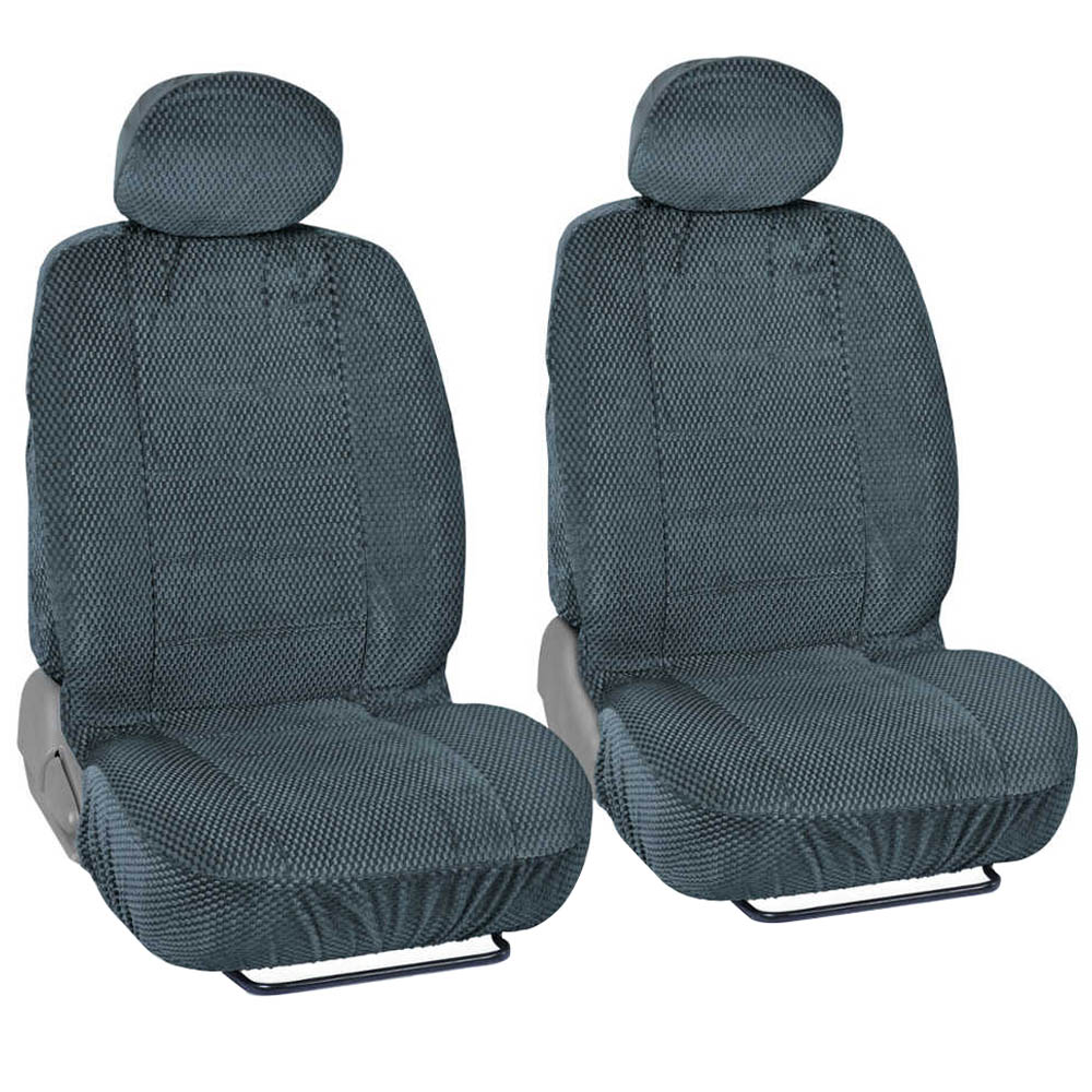 Bucket Seat Covers Premium Checkered Cloth Charcoal