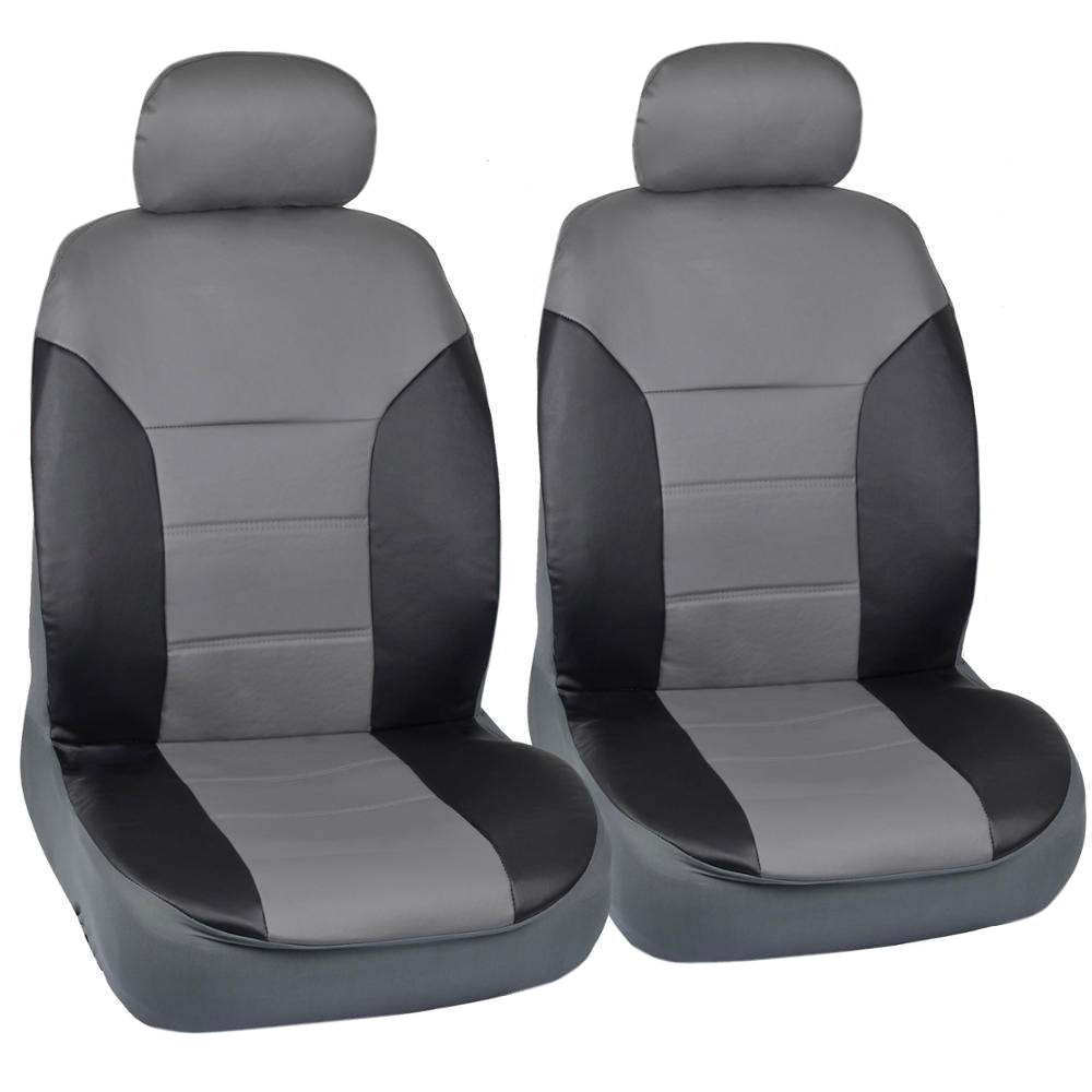 Black Gray Two Tone Leather Seat Covers For Car By Motor