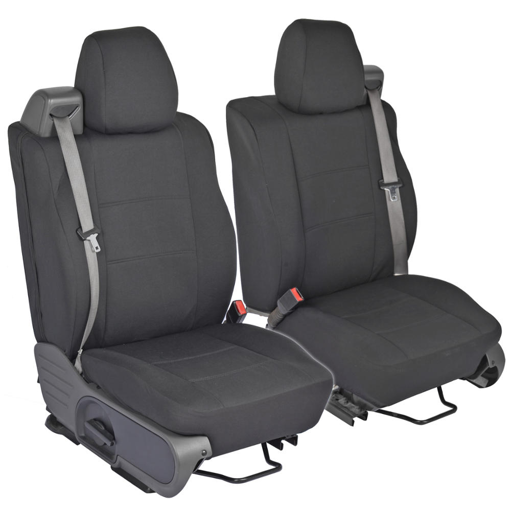 front pair custom fit charcoal gray cloth seat covers for ford f 150 2004 08 ebay. Black Bedroom Furniture Sets. Home Design Ideas