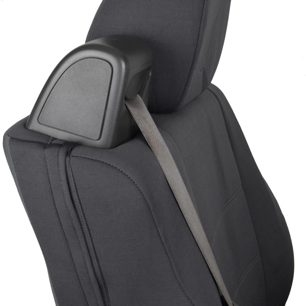 front pair custom fit charcoal gray cloth seat covers for ford f 150 2004 08 826942654787 ebay. Black Bedroom Furniture Sets. Home Design Ideas