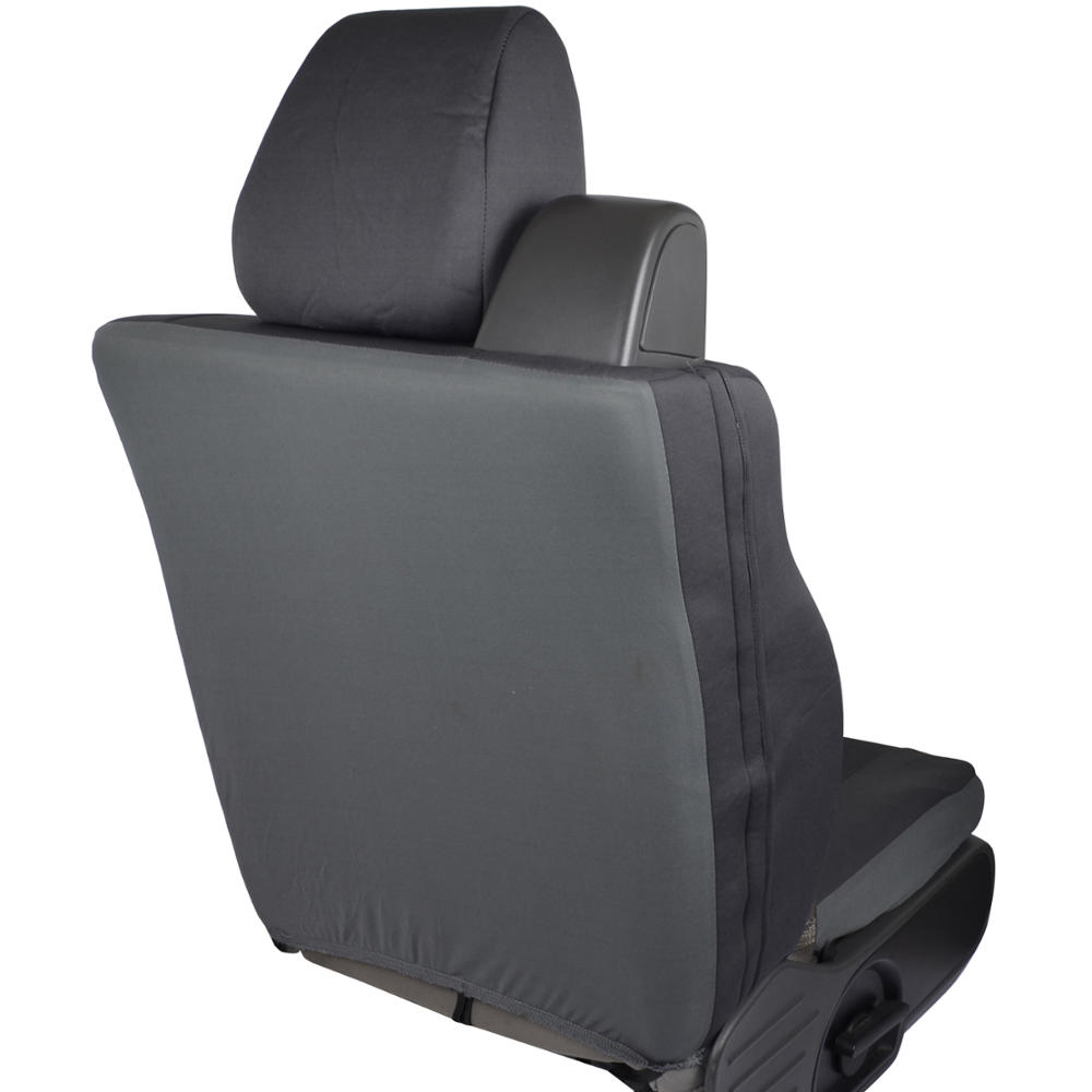 front pair custom charcoal gray cloth seat covers for ford f 150 2004 08 ebay. Black Bedroom Furniture Sets. Home Design Ideas