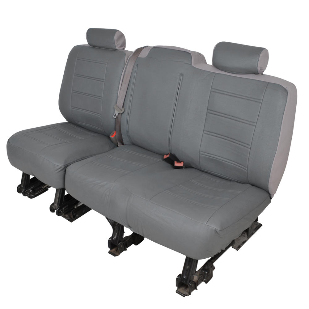 Charcoal Gray Pu Leather Bench Seat Covers For Chevy