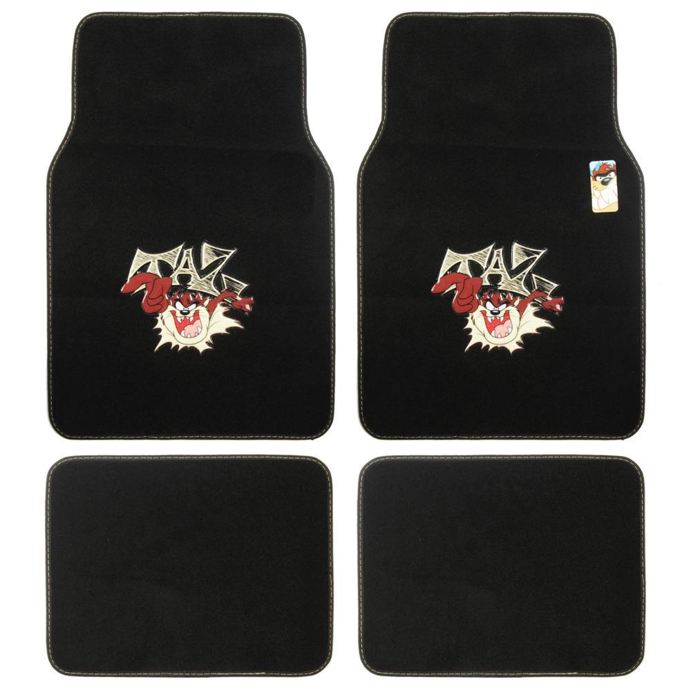 Taz Mania Car Floor Mats 4 Piece Tasmanian Devil Full Set