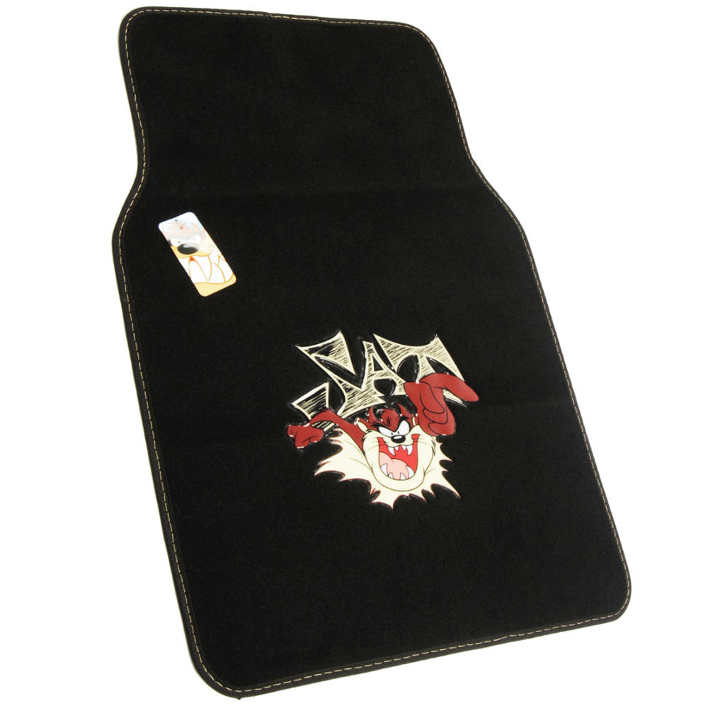 Taz Mania Car Floor Mats 4 Piece Tasmanian Devil Full Set