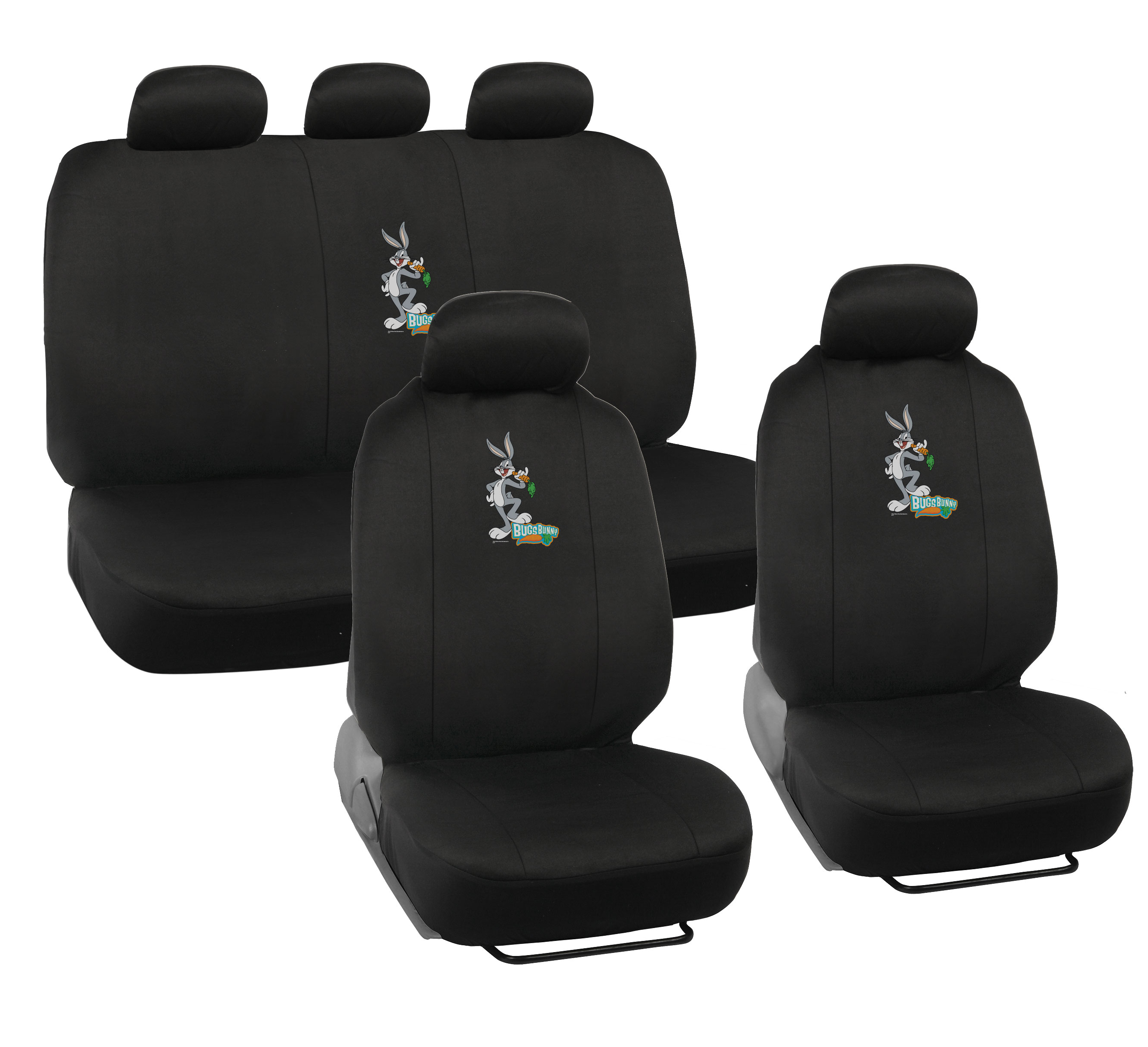 Cartoon Character Bugs Bunny Seat Covers For Car SUV Truck W Head Rest Cover